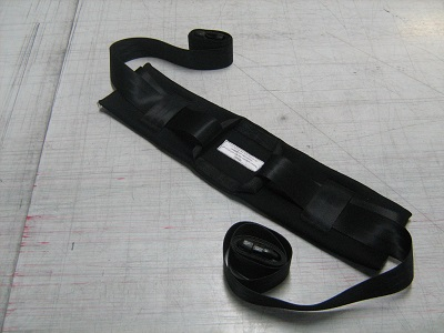 Bariatric torso belt restraint.